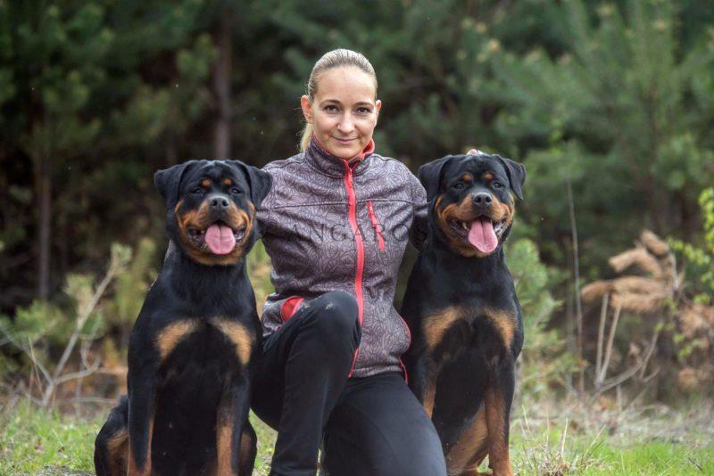 Farina i Fergie z Pańcią - Rottweiler Angaros - rottweilers Angaros